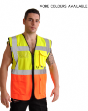 High Visibility Two Tone Jacket With Pockets